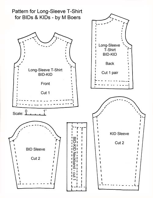 t shirt long sleeve for bids kids tutorials ForLong Sleeve Shirt Pattern